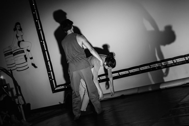 DansBlok @ Red Carpet Lounge - Morning, Mourning - Marie Khatib-Shahidi en Youri Peters ©Kim Doeleman