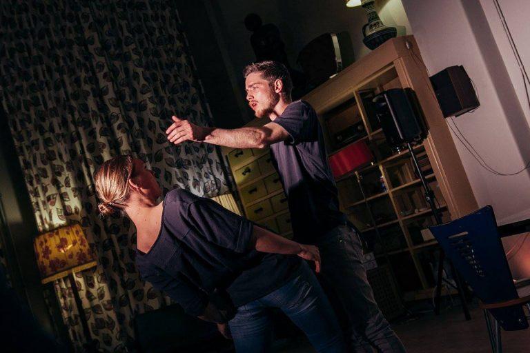 DansBlok @ Cafe Leidse Lente - Stay (Up) Date - Jamie de Groot, Mayke van Veldhuizen en Debora Regoli ©Kim Doeleman
